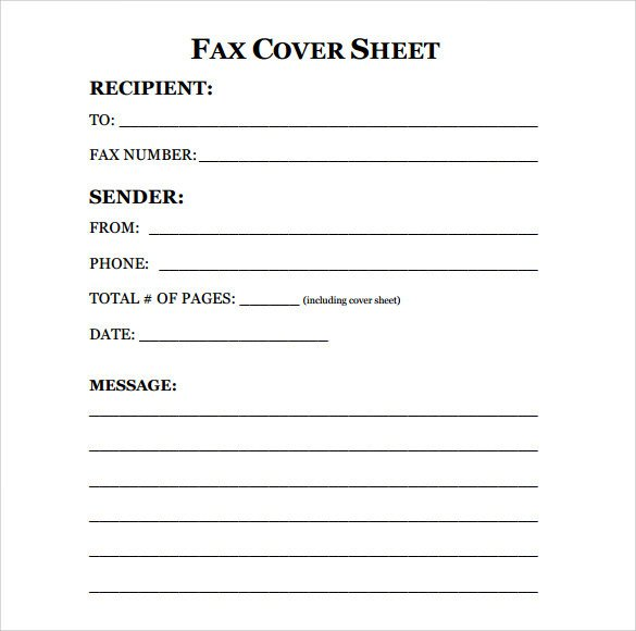Fax Cover Letter Template Sample Fax Cover Sheet 10 Examples & format