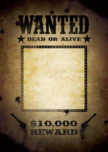Fbi Wanted Poster Template Download Free Fbi and Old West Wanted Poster Templates for