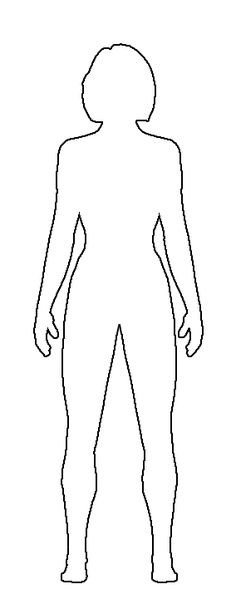 Female Body Outline Template Human Body Outline for Kids