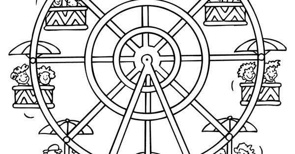 Ferris Wheel Template Disney World Ferris Wheel Coloring Pages