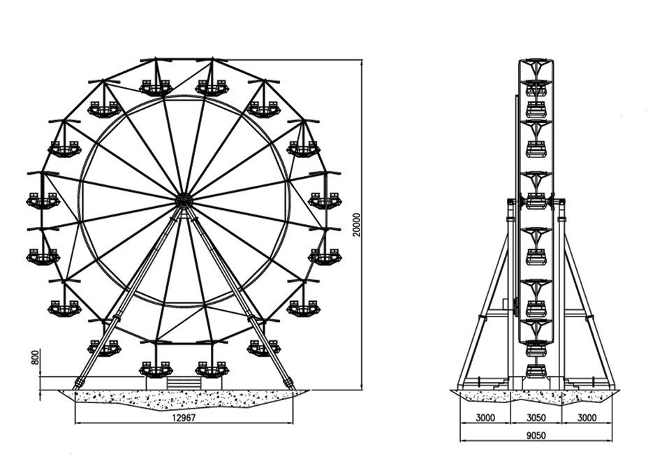 Ferris Wheel Template Ferris Wheel 17 Mt Technical Park Amusement Rides and