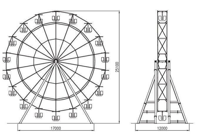 Ferris Wheel Template Ferris Wheel 25 Mt Technical Park Amusement Rides and