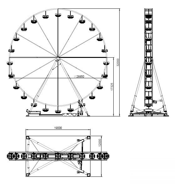 Ferris Wheel Template Ferris Wheel 32 Mt Technical Park Amusement Rides and