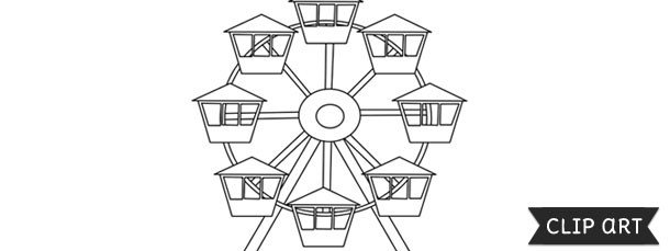 Ferris Wheel Template Ferris Wheel Template – Clipart