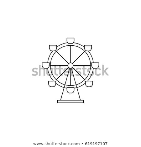 Ferris Wheel Template Ferris Wheel Vector Thin Line Icon Stock Vector