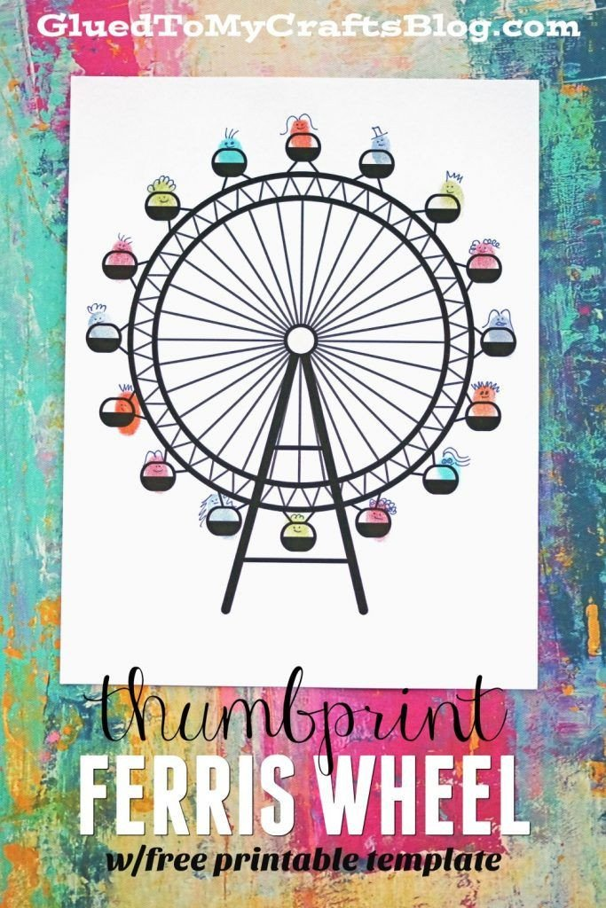 Ferris Wheel Template Thumbprint Ferris Wheel Free Printable