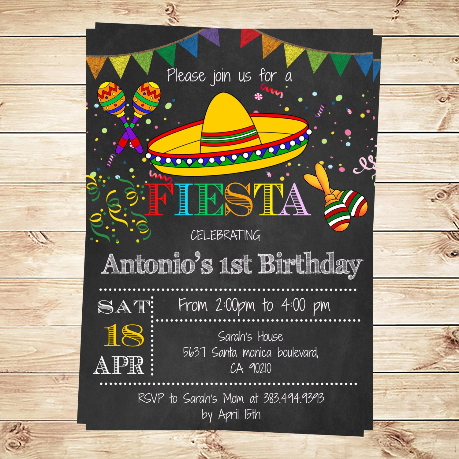 Fiesta Invitations Templates Free Birthday Mexican Fiesta Party Invitations Printable