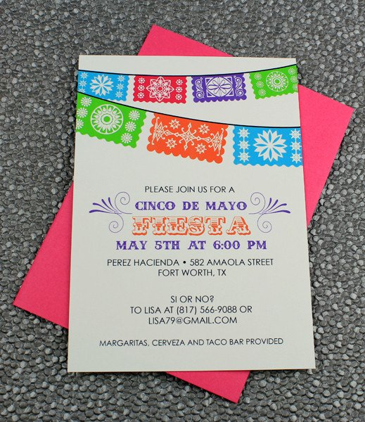 Fiesta Invitations Templates Free Cinco De Mayo Invitation Template Fiesta Banner