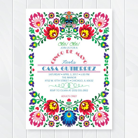 Fiesta Invitations Templates Free Cinco De Mayo Invitations Mexican Fiesta Invites Fiesta