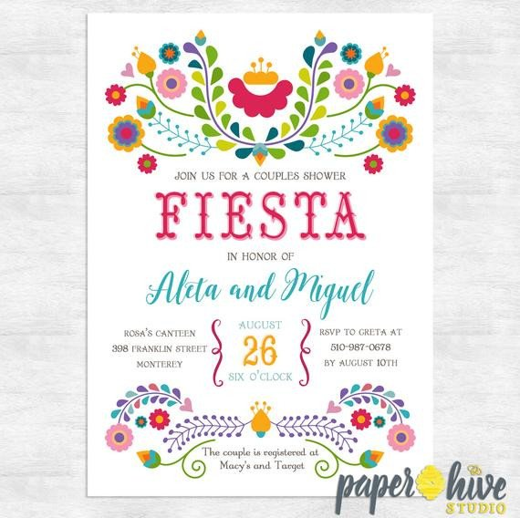 Fiesta Invitations Templates Free Fiesta Invitation Fiesta Couples Shower Invitations Cinco