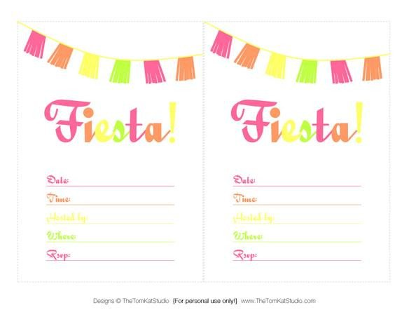 Fiesta Invitations Templates Free Free Printable Files Cinco De Mayo Fiesta