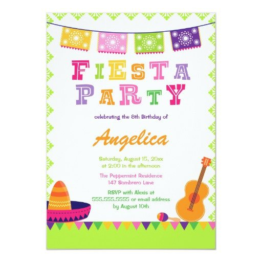 Fiesta Invitations Templates Free Fun Fiesta Party Colorful Birthday Invitation