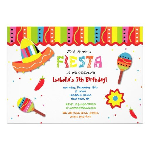 Fiesta Invitations Templates Free Mexican Fiesta Birthday Party Invitations