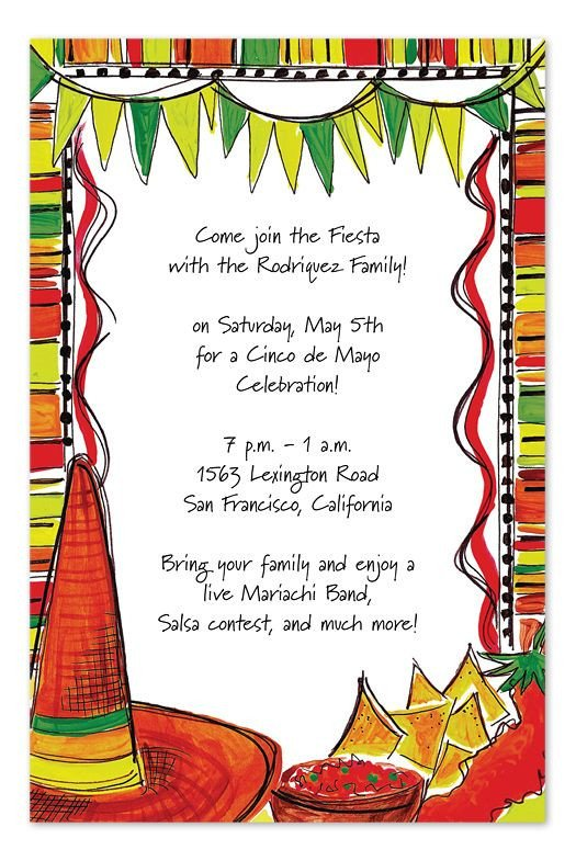 Fiesta Invitations Templates Free Mexican Fiesta by Invitation Consultants