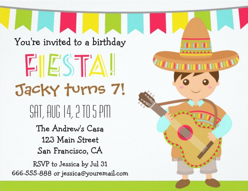 Fiesta Invitations Templates Free Mexican themed Party and Its Great Colors
