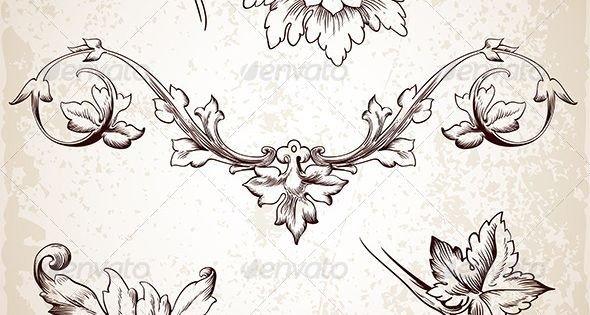 Filigree Design Templates Graphicriver Vintage Design Elements