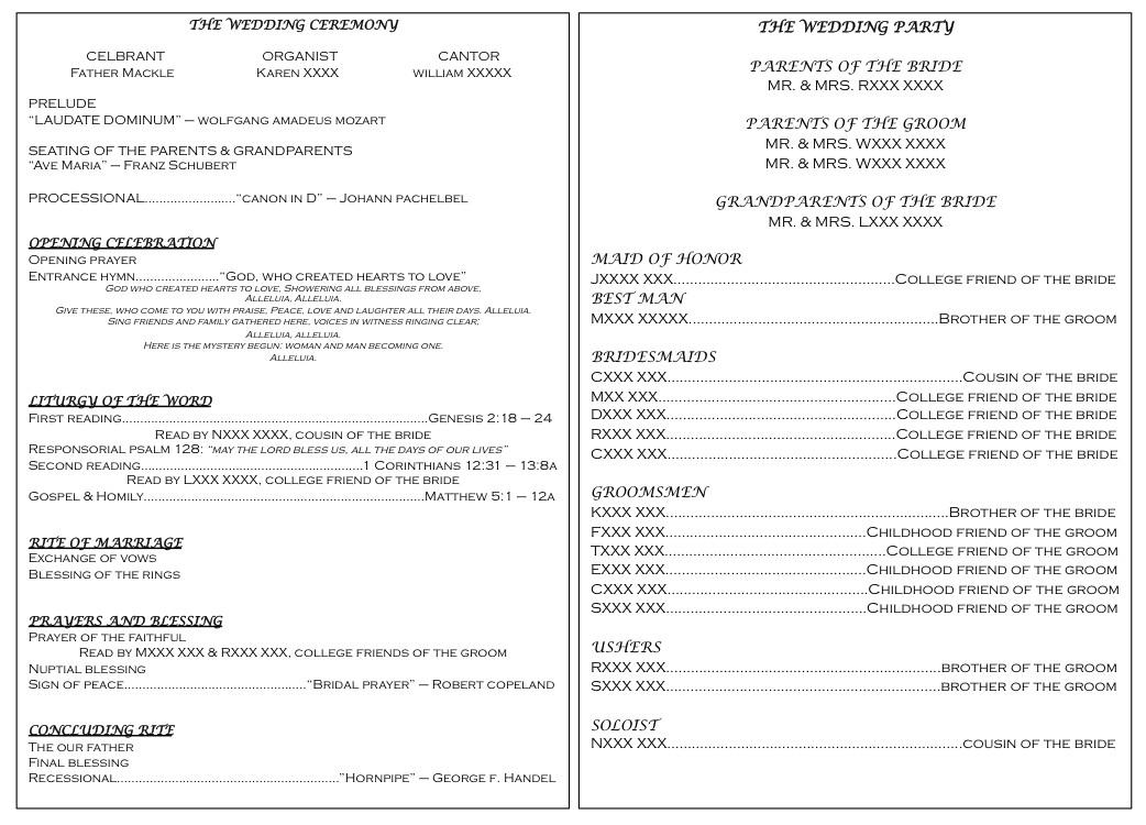 Filipino Catholic Wedding Program Catholic Wedding Programs On Pinterest
