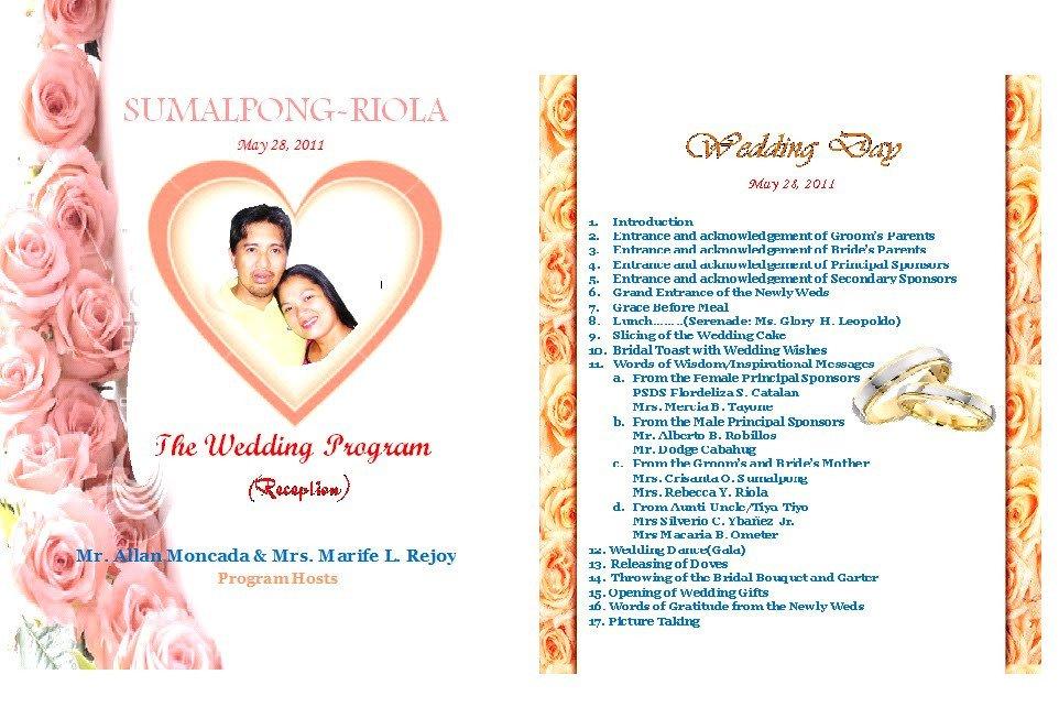 Filipino Catholic Wedding Program Media Acu Blog