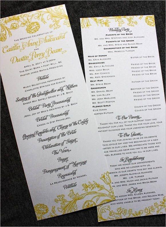 Filipino Catholic Wedding Program Wedding Programs Wording On Pinterest