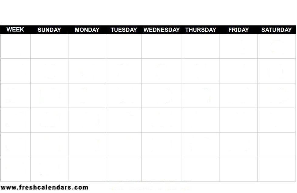 Fill In Calendar Template Blank Calendar Wonderfully Printable 2019 Templates