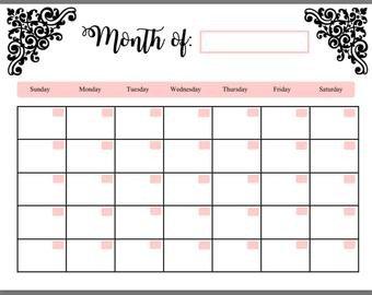 Fill In Calendar Template Fill In Calendar
