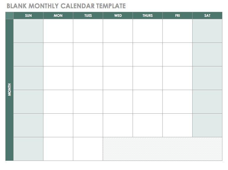 Fill In Calendar Template Free Blank Calendar Templates Smartsheet