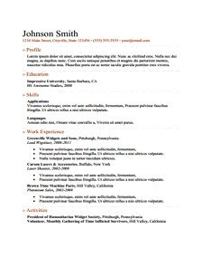 Fill In Resume Template Pdf Professional Resume Free Download Edit Fill and Print