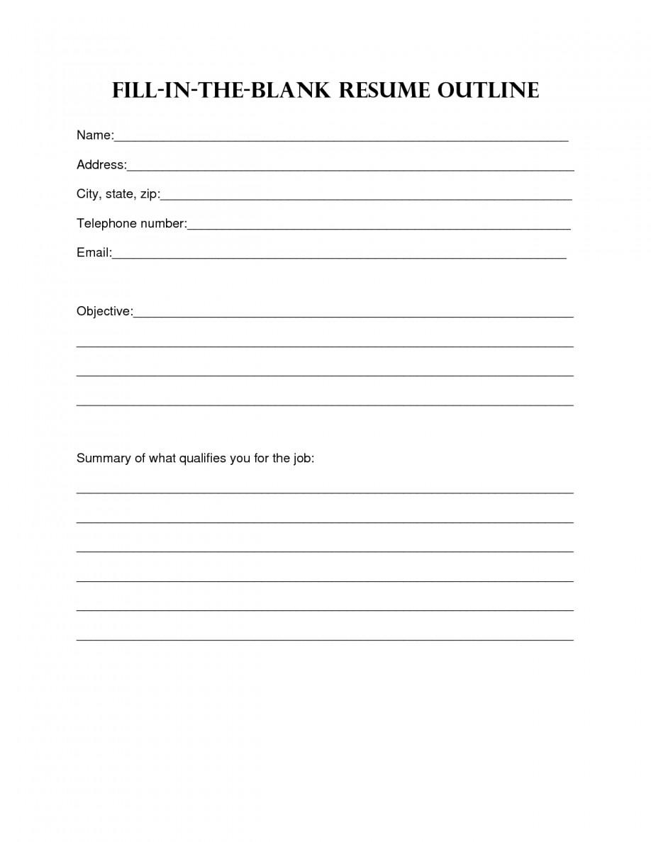Fill In Resume Template Pdf Resume Design Blank Resume Template Sample Blank Resume