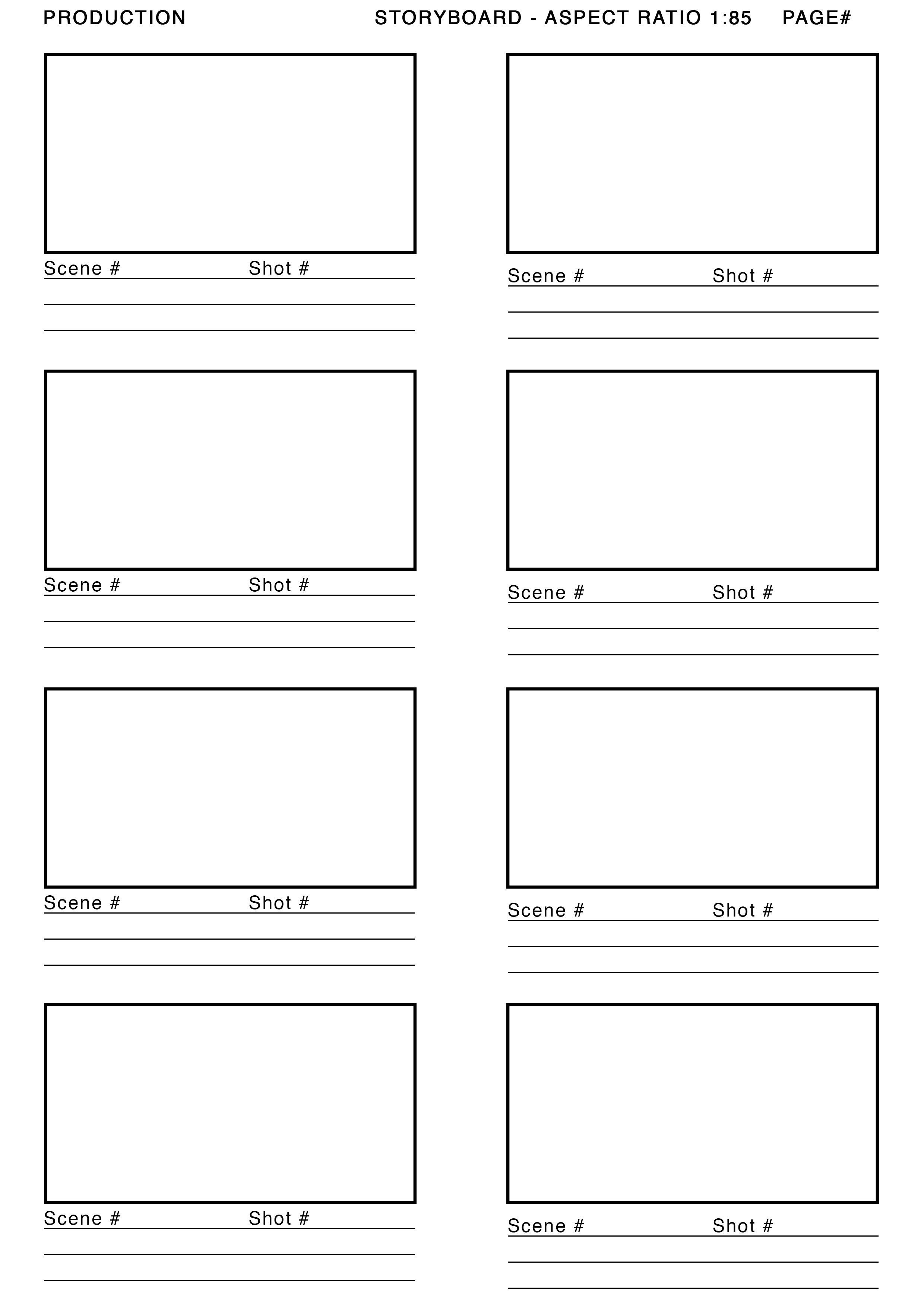 Film Storyboard Template Pdf 1 85 aspect Ratio Storyboard Template Google Search