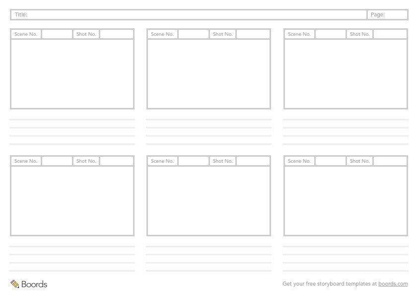 Film Storyboard Template Pdf 40 Free Storyboard Templates Pdf Psd Word & Ppt