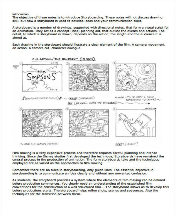 Film Storyboard Template Pdf 44 Storyboard Templates In Pdf