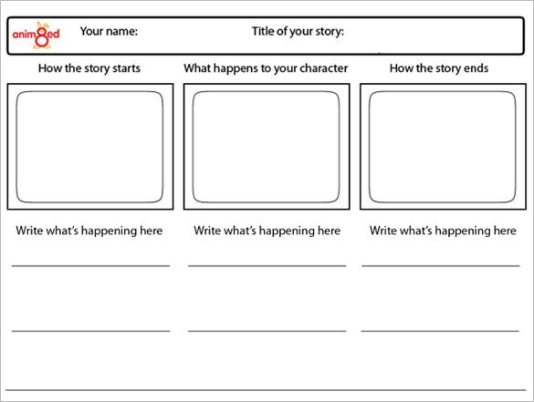 Film Storyboard Template Pdf 6 Animation Storyboard Templates Doc Pdf