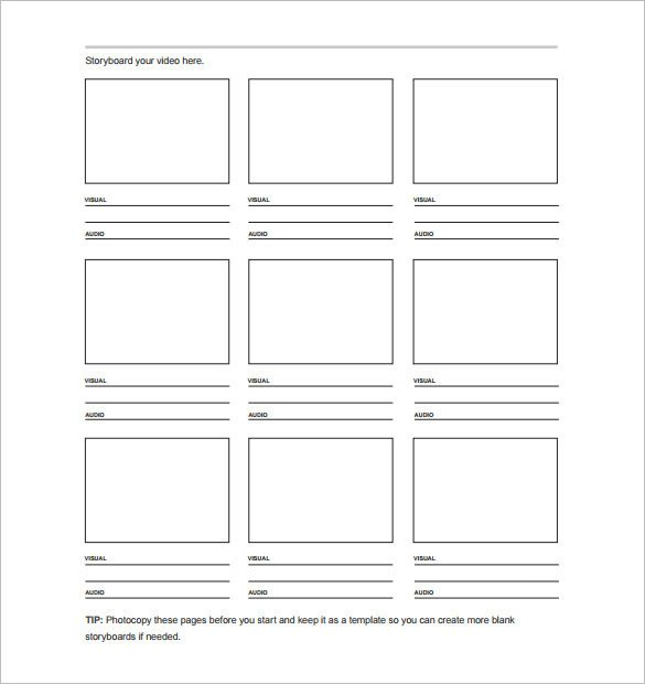 Film Storyboard Template Pdf 7 Movie Storyboard Templates Doc Excel Pdf Ppt