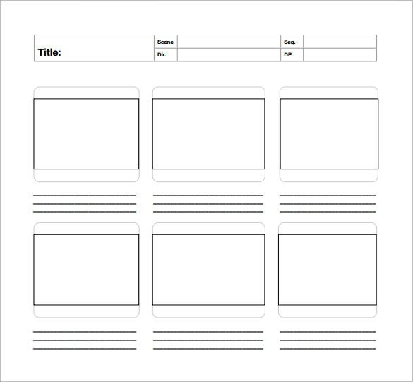 Film Storyboard Template Pdf 82 Storyboard Templates Pdf Ppt Doc Psd