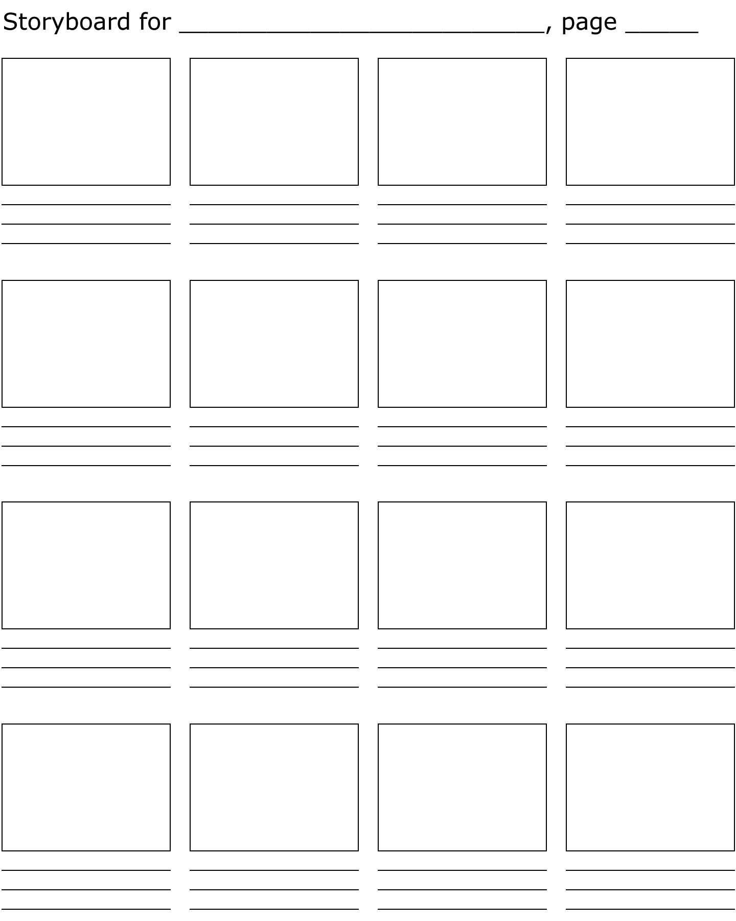 Film Storyboard Template Pdf Best 25 Storyboard Template Ideas On Pinterest