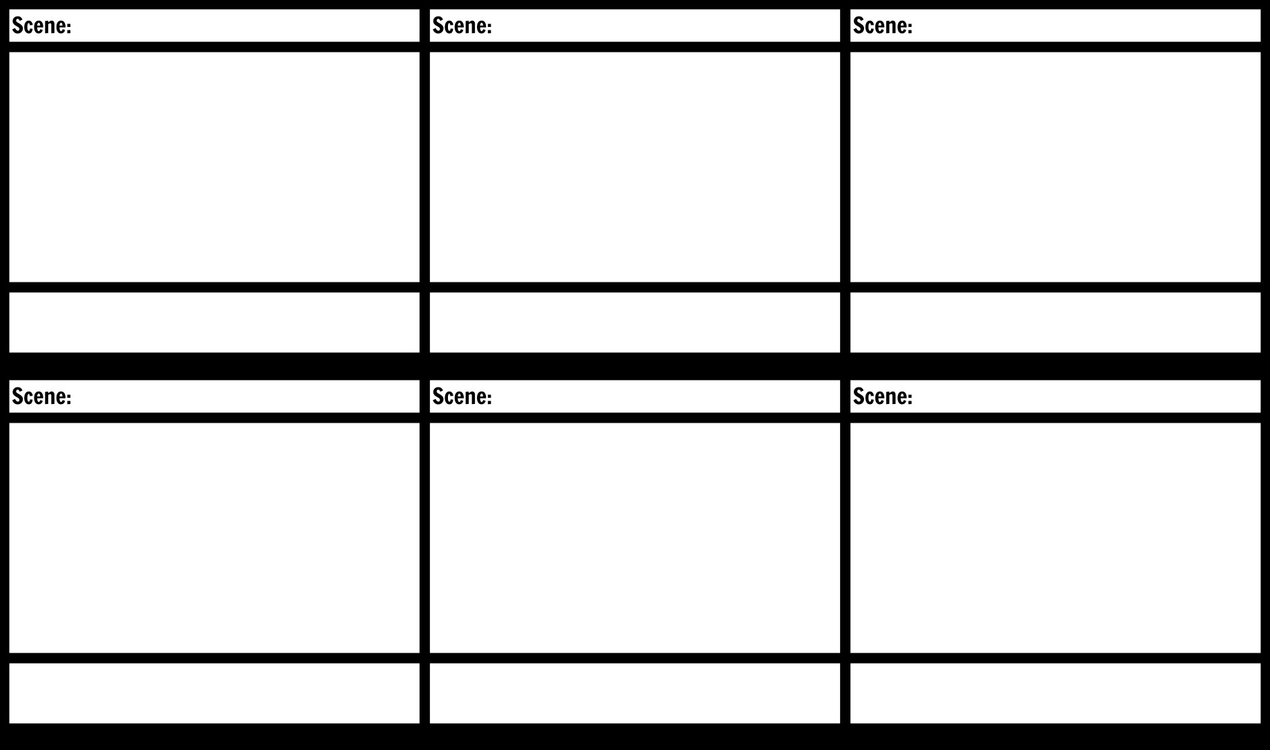 Film Storyboard Template Pdf Blank Storyboard Template Storyboard by Anna Warfield