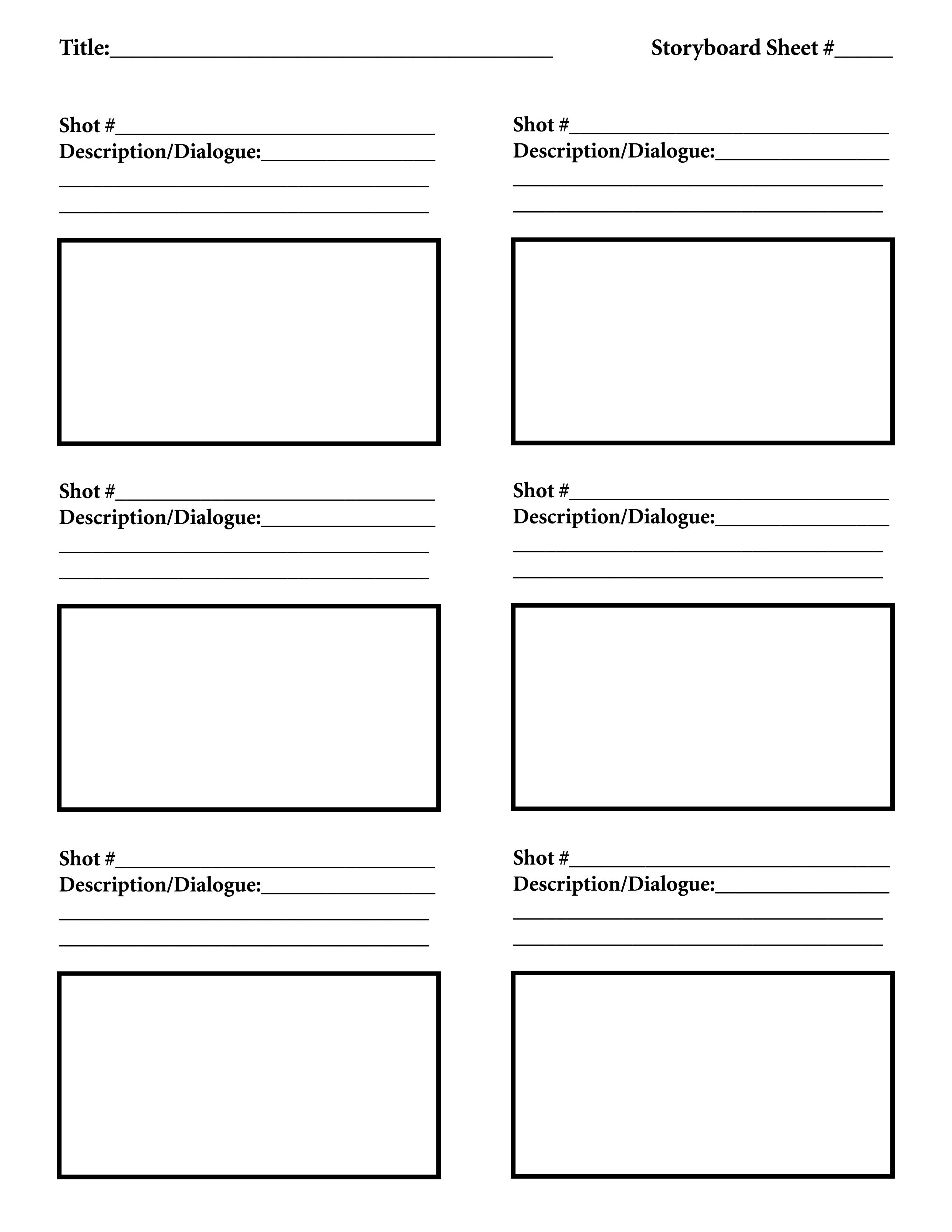 Film Storyboard Template Pdf Download Free Storyboard Template Tutorials In