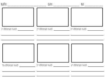 Film Storyboard Template Pdf Storyboard Template by Mr Teecher
