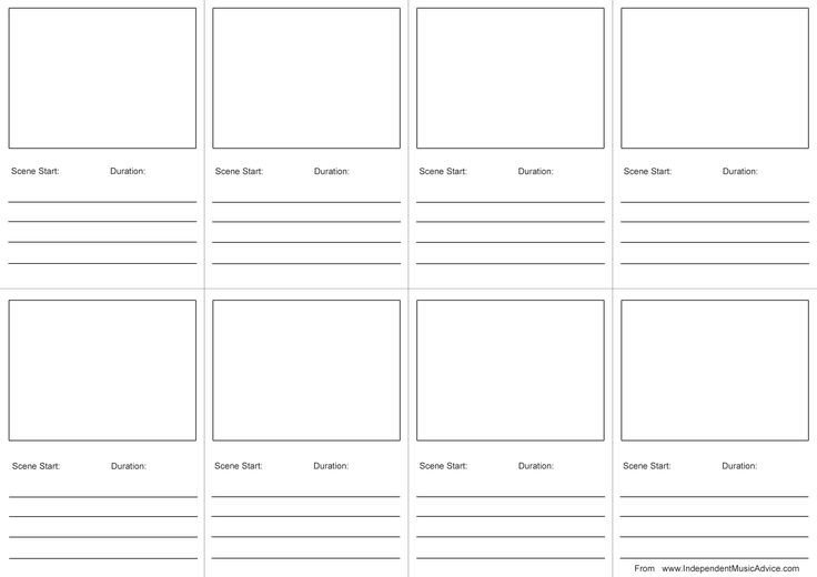 Film Storyboard Template Pdf Storyboard Template Pdf Print Google Search