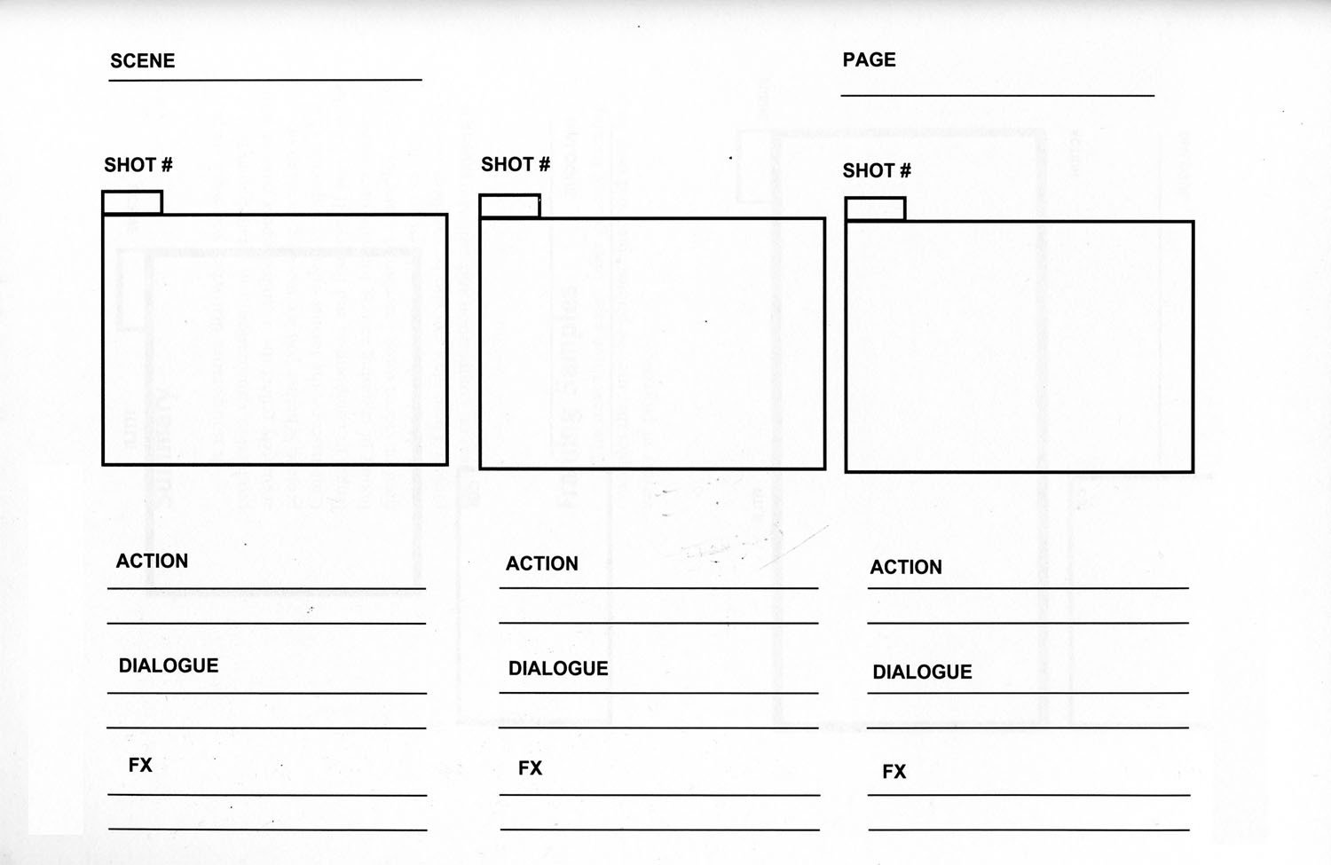 Film Storyboard Template Pdf Storyboarding – Creativepractices200