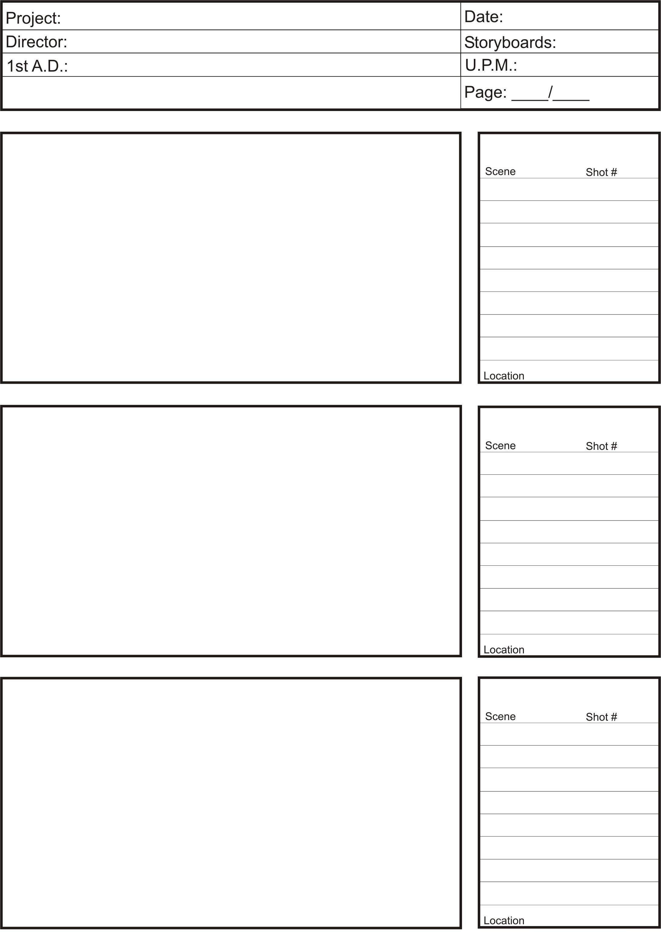 Film Storyboard Template Pdf Storyboards – Lm