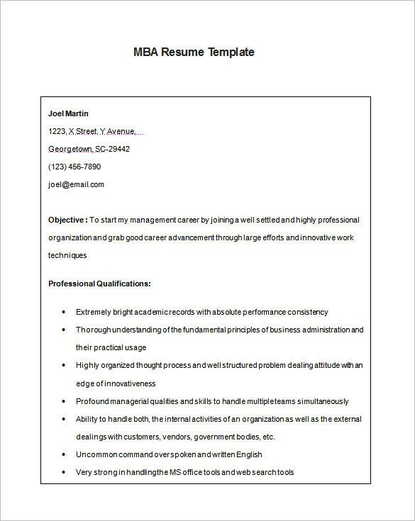 Finance Resume Template Word 12 Mba Resume Templates Doc Pdf