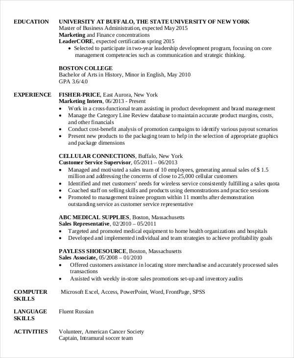 Finance Resume Template Word 28 Finance Resume Templates Pdf Doc