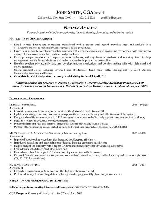 Finance Resume Template Word Best Finance Resume Templates & Samples On Pinterest