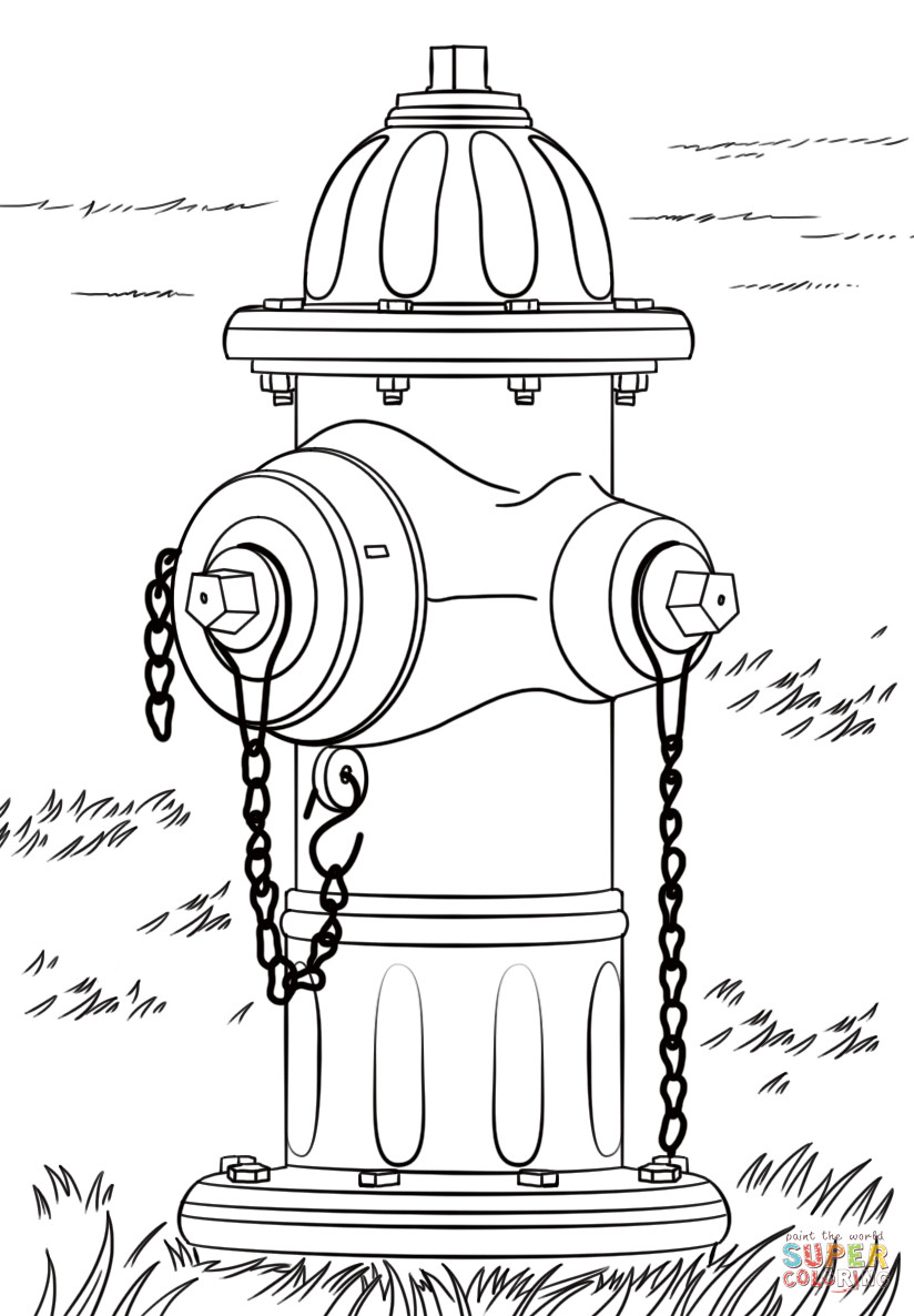 Fire Hydrant Printable Fire Hydrant Coloring Page
