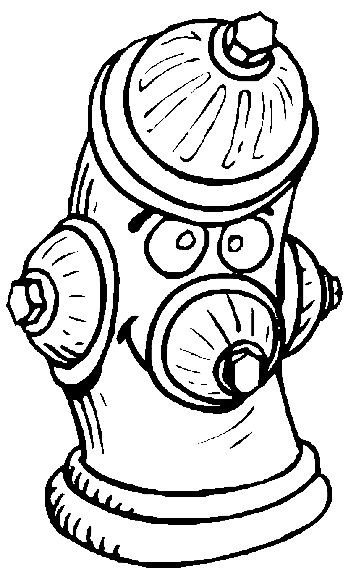 Fire Hydrant Printable Free Fire Coloring Pages