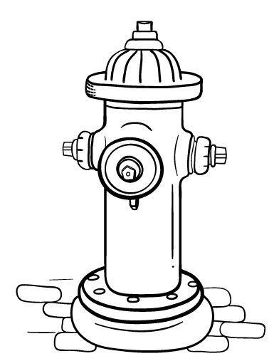 Fire Hydrant Printable Printable Fire Hydrant Coloring Page Free Pdf at