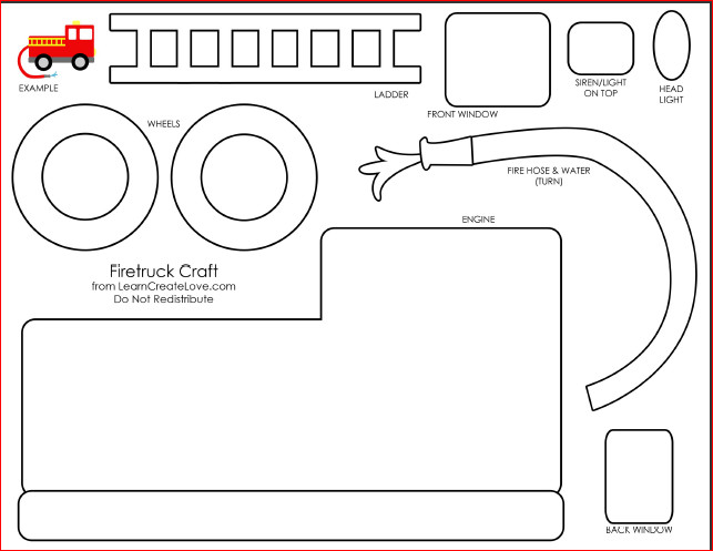 Fire Truck Template Printable 28 Of Printable Dump Truck Craft Template