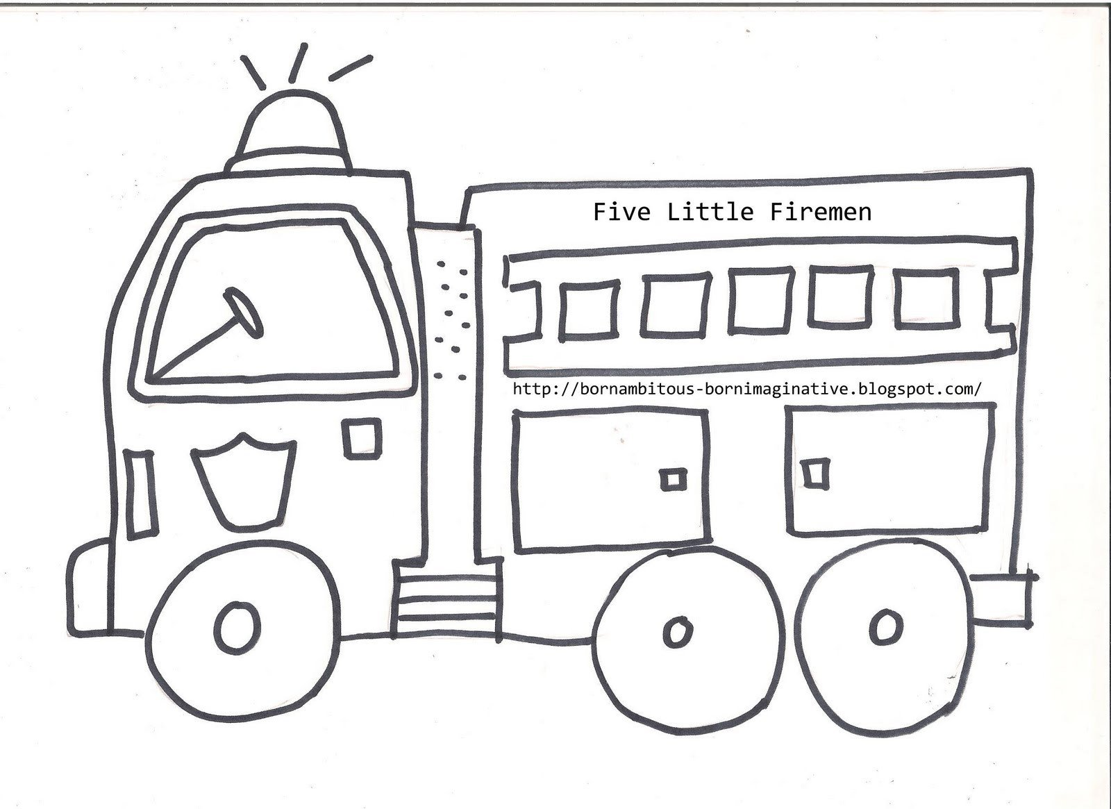 Fire Truck Template Printable 28 Of Truck Cut Out Template