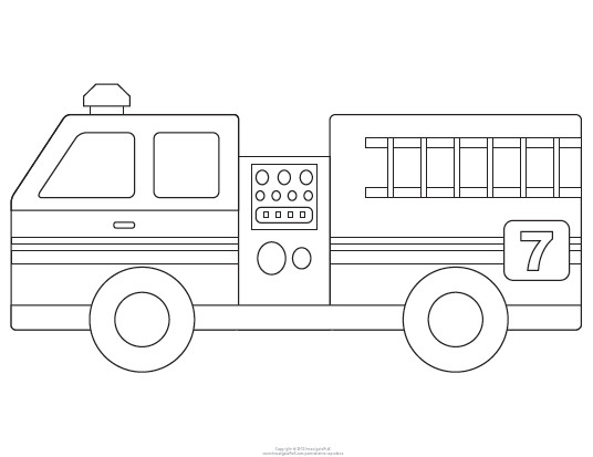 Fire Truck Template Printable Fire Engine Template for the Boy